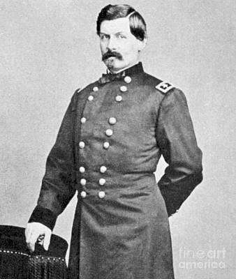 Brinton Photograph - George Brinton Mcclellan by American School