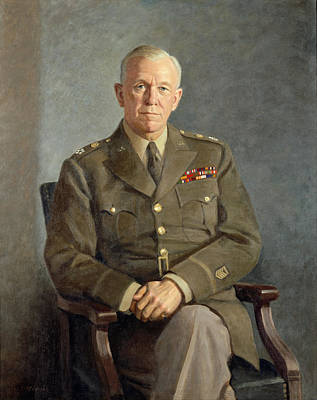 Illustrations Painting - George C Marshall by Celestial Images