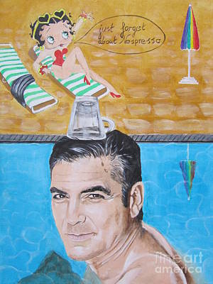 Beach Model Painting - George Clooney by Jeepee Aero