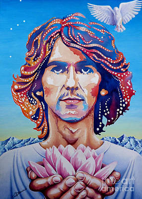George Harrison Print by Debbie  Diamond