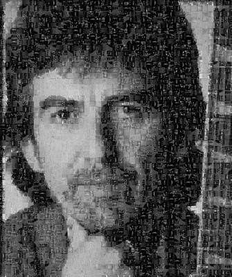 George Harrison Mosaic Image 4 Print by Steve Kearns