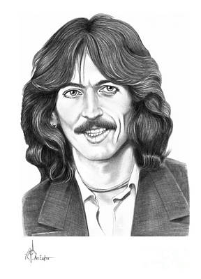 Beatles Drawing - George Harrison by Murphy Elliott