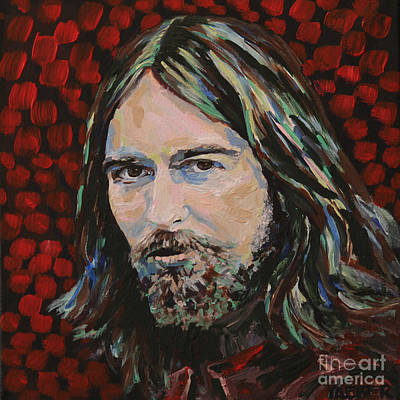 Abbey Road Painting - George Harrison Portrait by Robert Yaeger