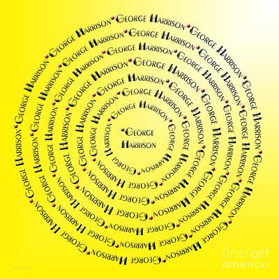 Beatles Digital Art - George Harrison Typography by Andee Design