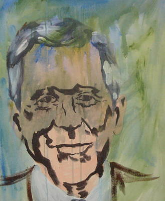 George Bush Painting - George In Acrylic  by John  Bichler