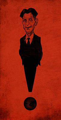 George Orwell Print by Thomas Seltzer