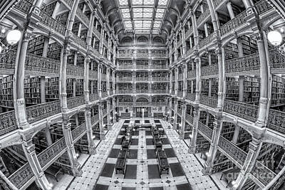 Library Photograph - George Peabody Library II by Clarence Holmes