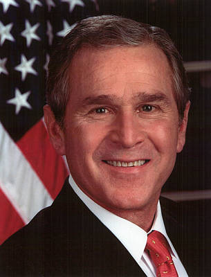 George W Bush Print by Official Gov Files