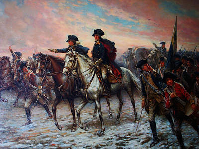 George Washington Drawing - George Washington At Valley Forge by Celestial Images