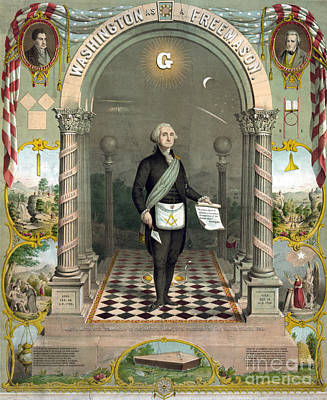 George Washington Freemason Print by Photo Researchers