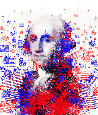George Washington Digital Art - George Washington by Bekim Art