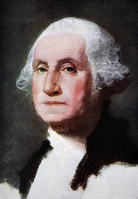 Wig Painting - George Washington by Gilbert Stuart