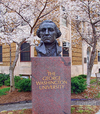 George Washington Photograph - George Washington University Bust 1958 by Jack Schultz