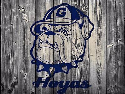 Georgetown Mixed Media - Georgetown Hoyas Barn by Dan Sproul