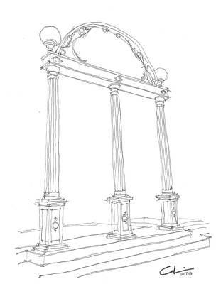 Georgia Arch Print by Calvin Durham