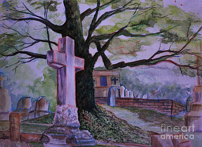 Painting - Georgia Graveyard  by Janet Felts