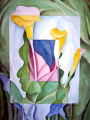 Cubism Painting - Georgia On My Mind II by Irina Sztukowski
