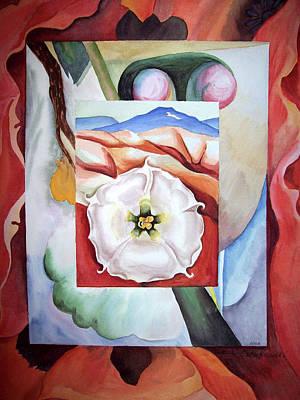 Geometric Art Painting - Georgia On My Mind IIi by Irina Sztukowski