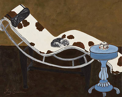 Georgia On The Chaise Original by Fay Sciarra