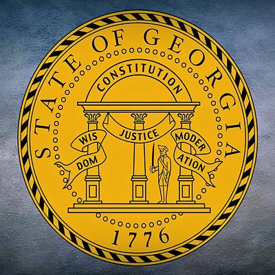 Coat Of Arms Digital Art - Georgia State Seal by Movie Poster Prints