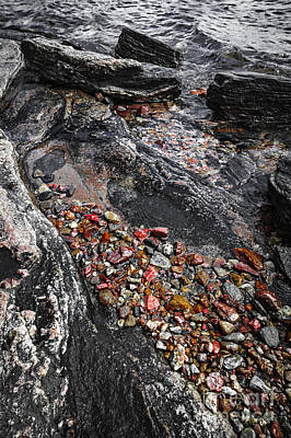 Parry Sound Photograph - Georgian Bay Rocks Abstract I by Elena Elisseeva