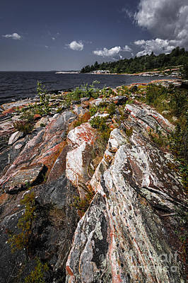 Parry Sound Photograph - Georgian Bay Rocks by Elena Elisseeva