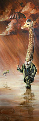 Giraffe Painting - Gerald by Vanessa Bates
