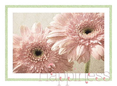 Gerber Daisy Happiness 3 Print by Andee Design