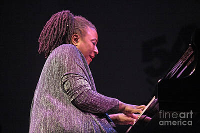 Digitized Image Photograph - Geri Allen With Timeline by Craig Lovell