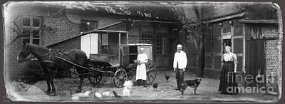 German Farm 1850's Print by Gerlinde Keating - Galleria GK Keating Associates Inc