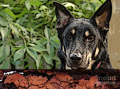 Poster Mixed Media - German Shepard by Marvin Blaine