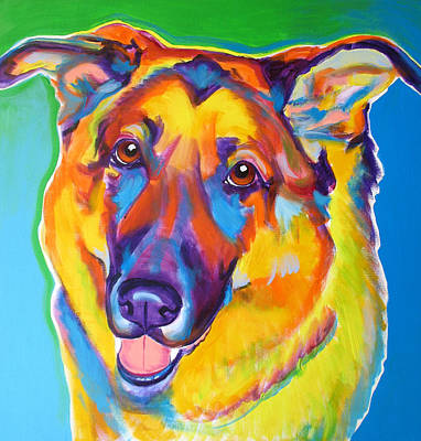 Animal Painting - German Shepherd - Thomas by Alicia VanNoy Call
