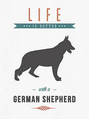 German Shepherd 01 Print by Aged Pixel