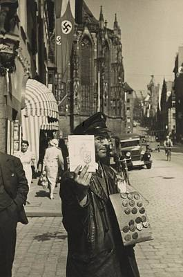 Nazi Party Photograph - German Street Vendor Sells Nazi by Everett