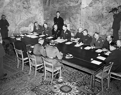 German Surrender Ceremony Print by Underwood Archives