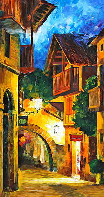 German Town Original by Leonid Afremov