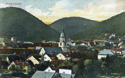 Rooftops Painting - Germany Friedrichroda by Granger