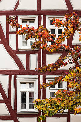 Hesse Photograph - Germany, Hesse, Wetzlar, Half-timbered by Walter Bibikow
