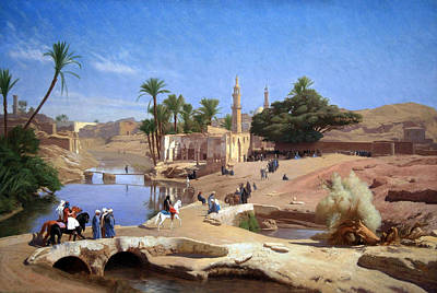 Gerome's View Of Medinet El Fayoum Print by Cora Wandel