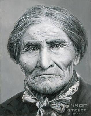Native American Painting - Geronimo C. 1904 by Stu Braks