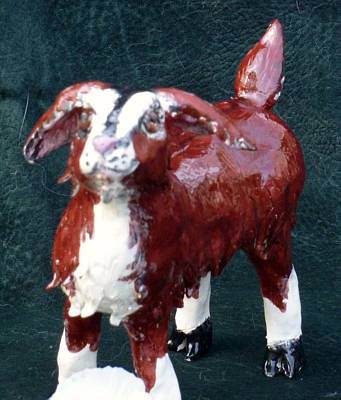 Customclaycritters Sculpture - Get Your Goat by Debbie Limoli