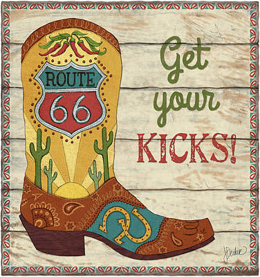 Cowboy Boots Painting - Get Your Kicks by Jacqueline Decker