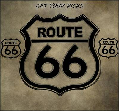Icon Mixed Media - Get Your Kicks On Route 66 by Dan Sproul