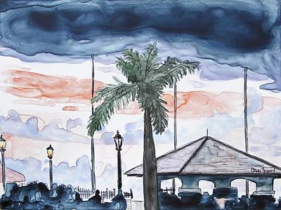 Key West Painting - Getaway - Twilight In Key West by Shaina Stinard