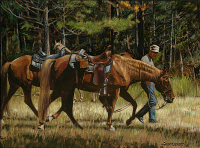 Getting Ready To Ride Print by Don  Langeneckert