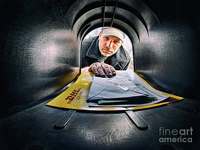Self Portrait Photograph - Getting The Mail by Mark Miller