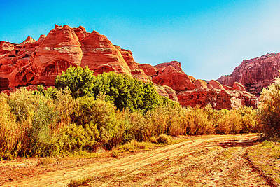 Getting The Sun In Canyon De Chelly Print by Bob and Nadine Johnston
