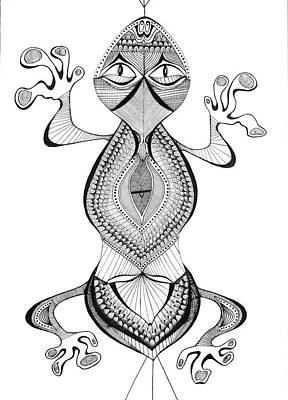 Salamanders Drawing - Gex by Audrey Miller