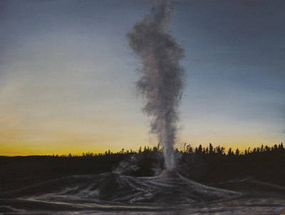 Oil Painting - Geyser by Lindsey Cockrum