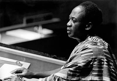 Ghana Photograph - Ghana President Kwame Nkrumah by Underwood Archives